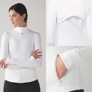 Lululemon Define White Long Sleeve Zip Jacket 4